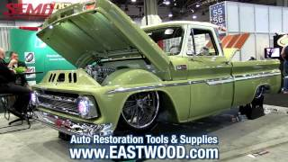 """1965 C10 Chevy Pickup Truck """"Boosted Bertha"""" from Slosh Tubz at SEMA 2015 - eastwood"""