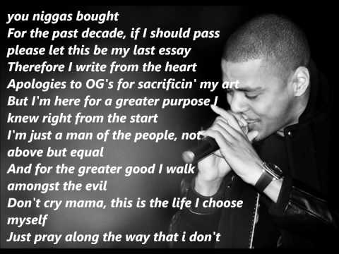 J. Cole - Let Nas Down (Lyrics On Screen)