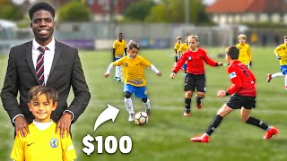 I Donated a Kid $100 Football Boots If His Team Wins Football Match