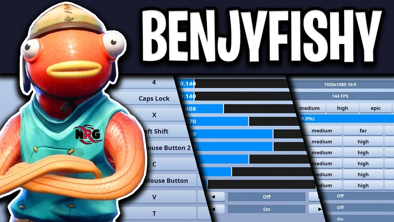 NRG BenjyFishy Fortnite Settings, Keybinds, Resolution and Setup