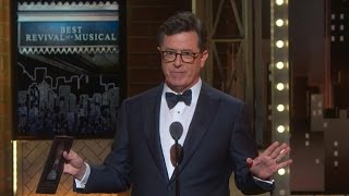 Stephen Colbert slams Trump at Tony Awards