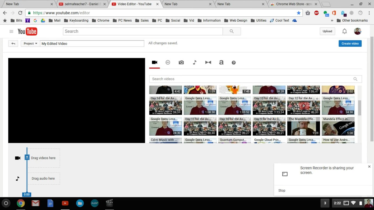 How to use your Chromebook to make Videos! Screen recorder