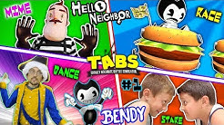 TABS COMPETITION! Mart Stole Bendys Cat! (FGTEEV Hello Neighbor BT Story Pt 1: BL- INK MACHINE)