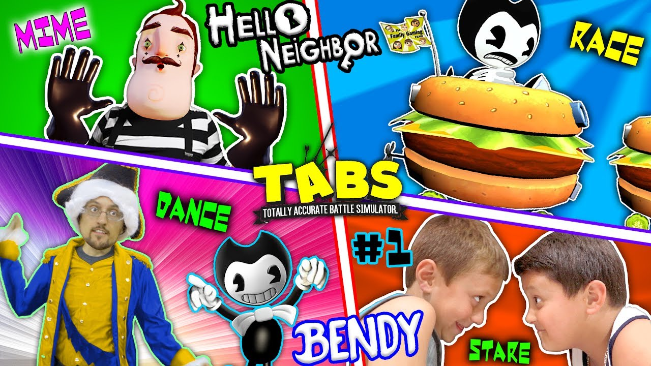 Hello Neighbor Bedtime Story Mart Stole Bendys Cat Fgteev Tabs Competition Pt 1 Bl Ink Machine
