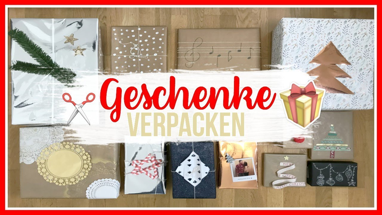 weihnachtsgeschenke verpacken ber 10 kreative hacks ideen mel mas 15 weeklymel youtube. Black Bedroom Furniture Sets. Home Design Ideas