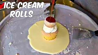 The Most Satisfying Food Video On YouTube! ICE CREAM ROLLS!