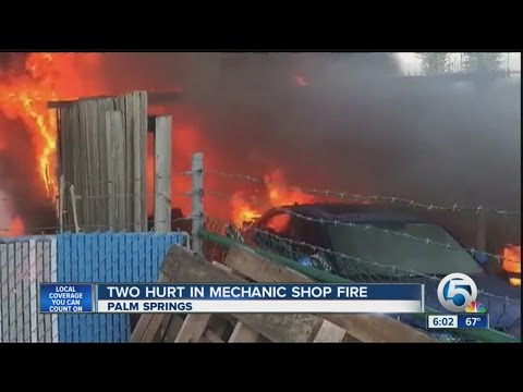 2 hurt in Palm Springs fire
