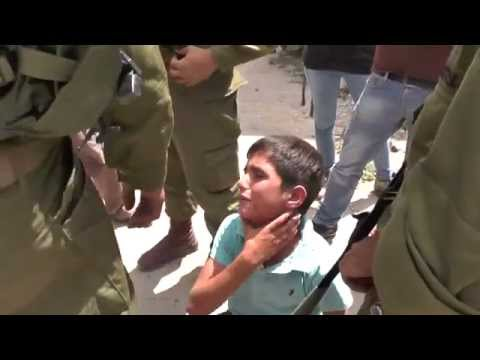 Eight years old Palestinian child been abused and arrested by Israeli soldiers