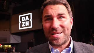 EDDIE HEARN REACTS TO ANDRADE WIN, LINARES LOSS, SAUNDERS MANDATORY?, AJ OFFERS, WILDER 'PETRIFIED',