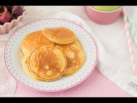 Ricetta Pancake Di Benedetta.Pancakes Light Senza Glutine Ricetta Facile Polvere Di Riso Youtube