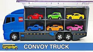 Вивчення кольорів Автоколона Томика, гарячі колеса, Дісней автомобілі, сірникові коробки Плашк-кидання іграшки вантажівки автомобілі