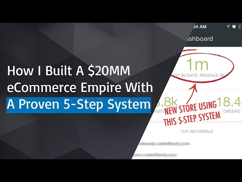 How I Built A $20M eCommerce Empire Using A Proven 5-Step System