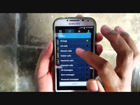 How to delete call log on samsung galaxy s4 mini