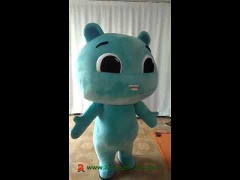 Custom Adult Blue Cat Mascot Costume, Advertising mascot suit, party dress
