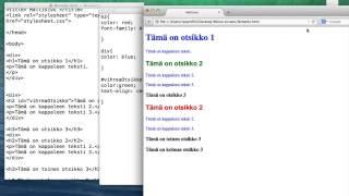 CSS-tyylitiedostoon kirjoittaminen
