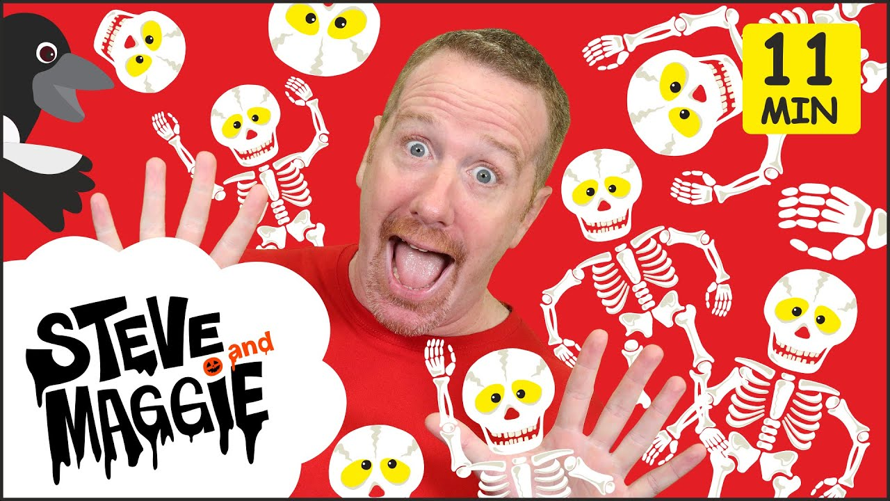 Halloween Wheels on the Bus, Finger Family and Spooky Haunted Dollshouse from Steve and Maggie