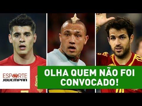OLHA quem NÃO foi convocado por ESPANHA e BÉLGICA!
