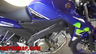 Suara Knalpot Racing Akrapovic Megaphone Half Blue New Vixion Advance GP