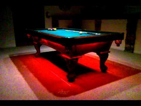 Charmant Oracle LED RGB Lights On Pooltable