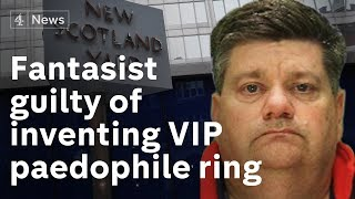 Former nurse guilty of inventing VIP paedophile ring