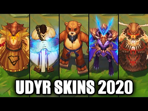 All Udyr Skins Spotlight 2020 (League of Legends)