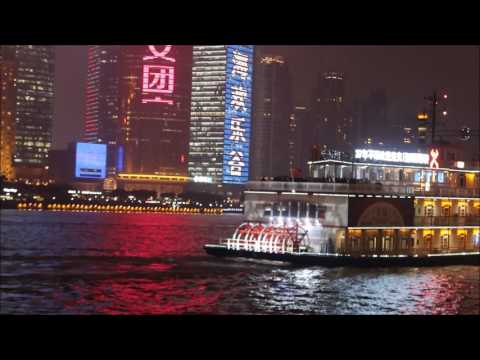 The Bund and Pudong in Shanghai Evening & Night - Pearl TV Tower, SWFC, Shanghai Tower, JinMao Tower