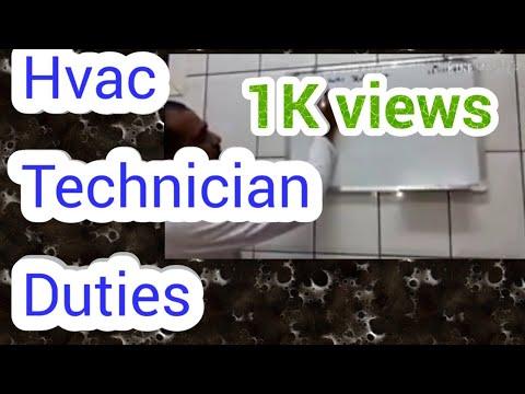 Job Description Of An HVAC Technician In Hindi