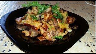 Жареный картофель с лесными грибами!!! Как жарить Белые грибы,Лесные грибы с картофелем!!!