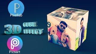 3D Cube effect tutorial-Picsart & Pixellab tutorial  || Edited india