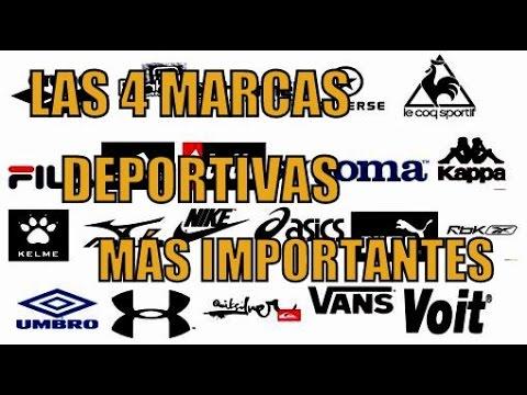 LAS 4 MARCAS DEPORTIVAS MÁS IMPORTANTES DEL MUNDO - YouTube 657bc1d6291