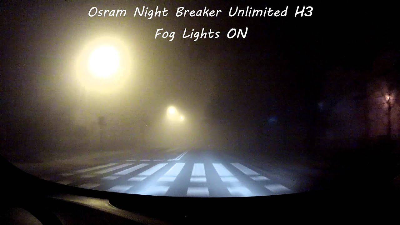 osram night breaker unlimited h3 in fog driver 39 s view. Black Bedroom Furniture Sets. Home Design Ideas