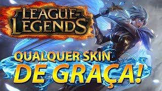 COMO CONSEGUIR TODAS SKIN NO LOL DE GRAÇA 2017 (NOVO CLIENT) - League of Legends