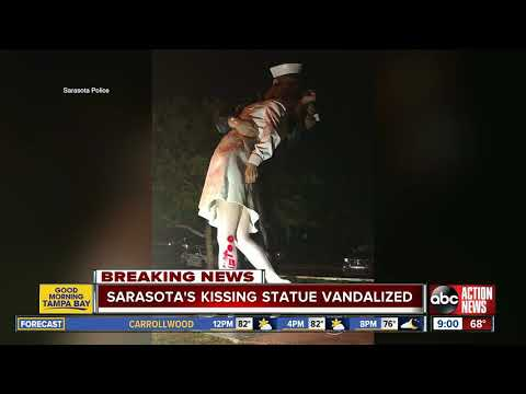 Bobby Gunther Walsh - Famous 'Kissing' Statue defaced.