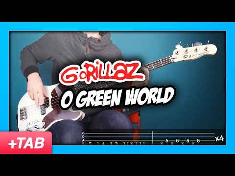 Gorillaz - O Green World | Bass Cover + Live Tabs