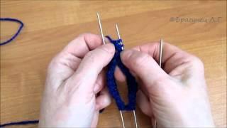 Школа вязания: Как связать носки спицами для начинающих. Ч.1