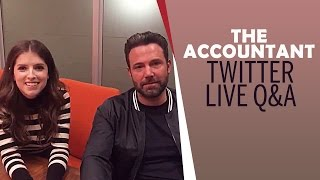 Ben affleck & anna kendrick fling jokes during live q&a | the accountant