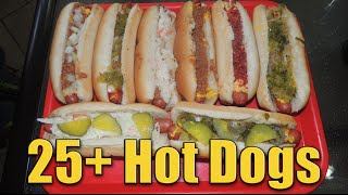 Sabrett Hot Dog Record Challenge - 30 Sabretti's Loaded Specialty Dogs!!