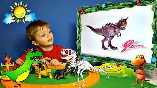 Детям про Динозавров Сборник Челлендж Угадай Динозавра Загадки Скелет Динозавра Все Серии Подряд