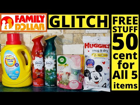 FAMILY DOLLAR GLITCH ON HUGGIES DIAPERS || FREE FREE || ALL DIGITALS || I PAID .50 For 5 Items.