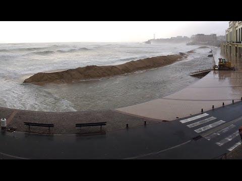 Biarritz Tempête Christine 3 mars 2014