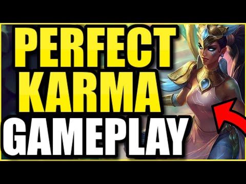 *THIS* IS HOW YOU PLAY KARMA PERFECTLY IN SEASON 10! (KARMA SUPPORT GUIDE BY GRANDMASTER PLAYER)