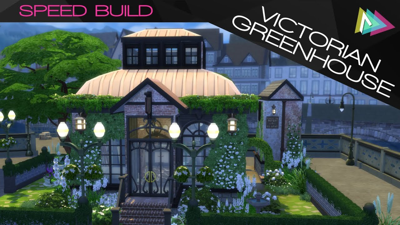 Sims 4 victorian greenhouse speed build audryce youtube for Build a victorian greenhouse