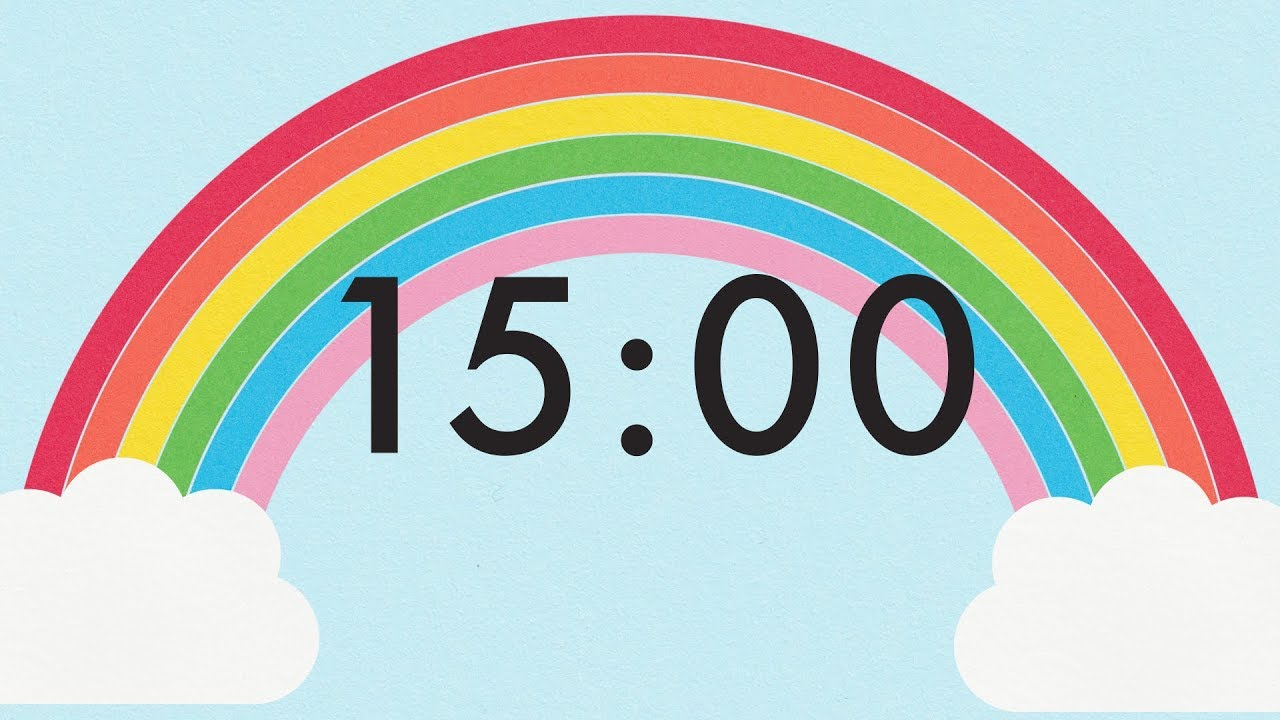 15 Minute Countdown Rainbow Timer 🌈 - YouTube