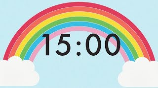 15 Minute Countdown Rainbow Timer 🌈