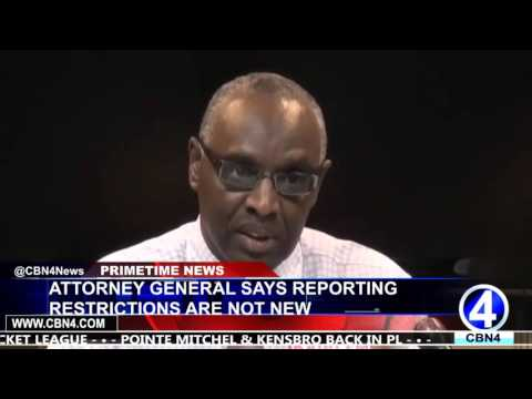 ATTORNEY GENERAL SAYS REPORTING RESTRICTIONS ARE NOT NEW