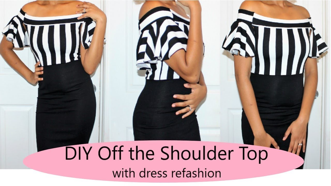 Viewer S Choice Diy Off The Shoulder Top Dress With Open Ruffle Sleeves Ty Kent