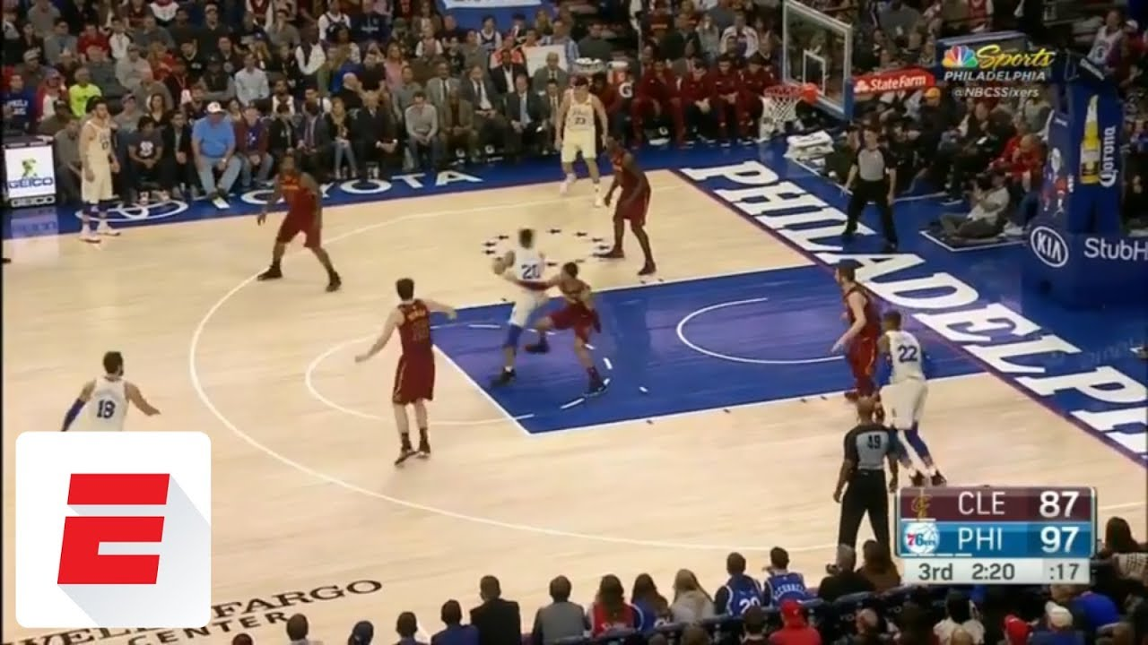 00 25 Markelle Fultz puts Jordan Clarkson in the spin cycle  4179c6742