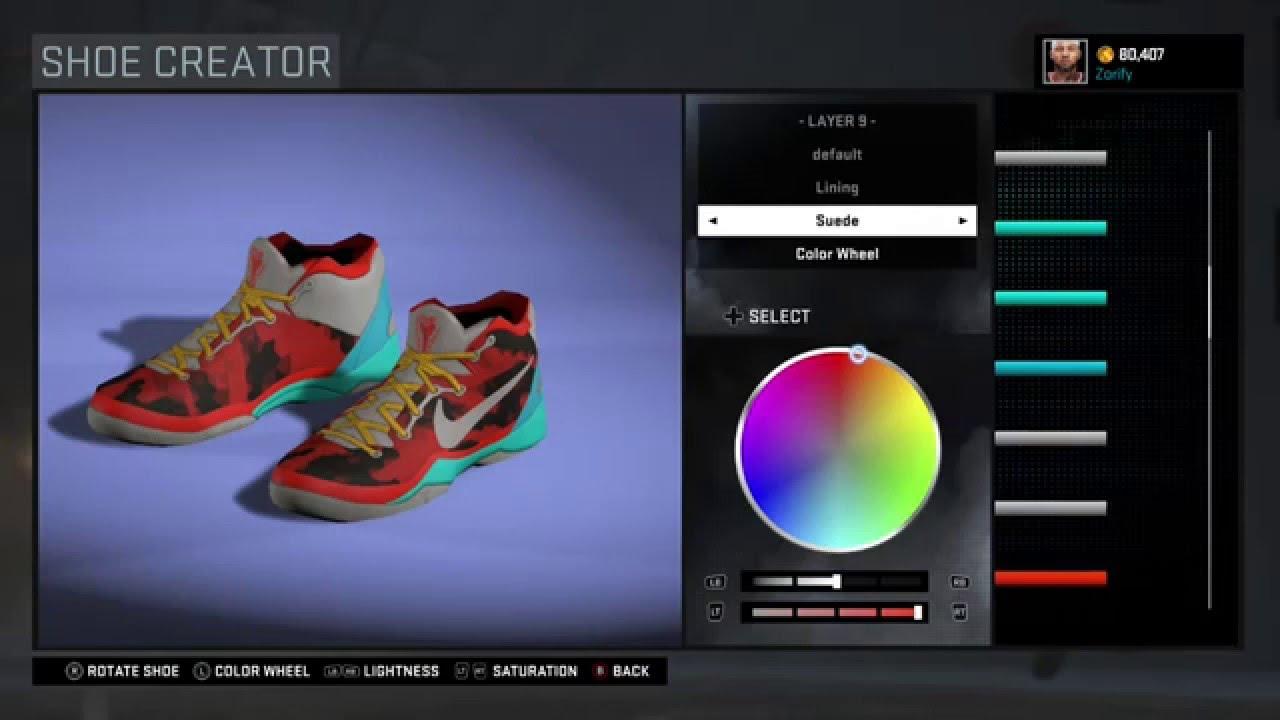 878318dabb2 NBA 2K16 Shoe Creator - Nike Kobe 8