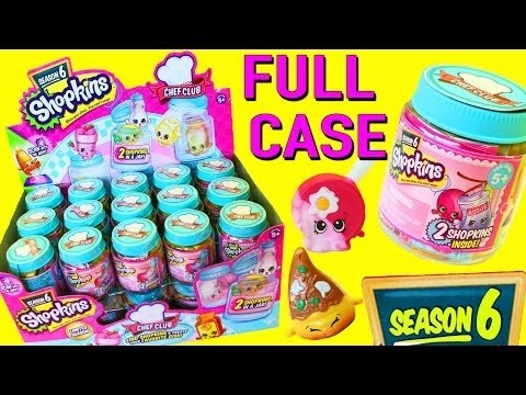 Shopkins SEASON 6 ENTIRE CASE of NEW Chef Club COLOR CHANGE Toys & Changing Recipes DisneyCarToys
