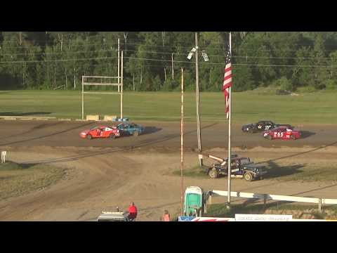 Flinn Stock Heat Race #2 at Crystal Motor Speedway on 07-07-2018